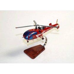 Maquette hélicoptère de l'Alouette III SA.316B Sécurité
