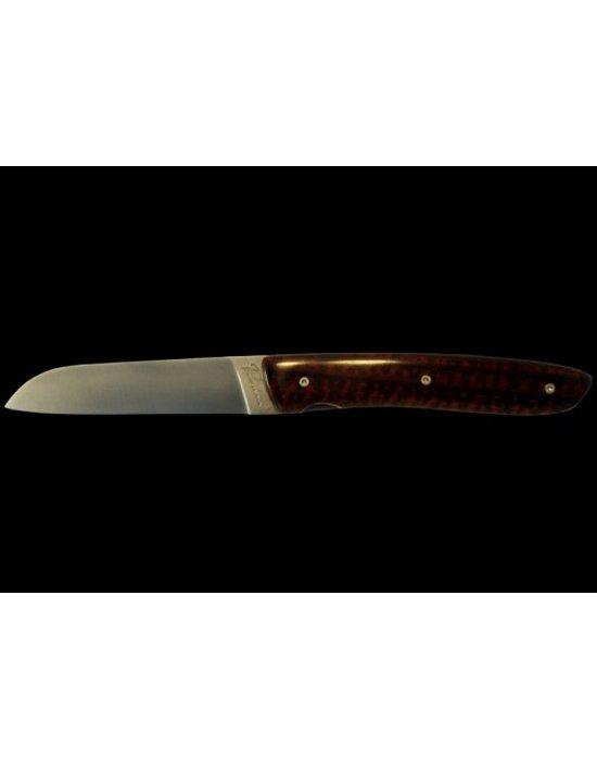 Couteau pliant en bois d amourette de luxe
