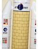 Maquette en bois de l' Ariane 5