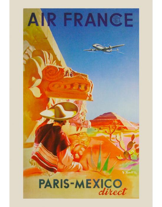 Affiche Air France / Paris-Mexico