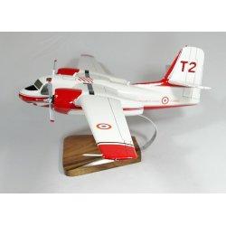 Maquette avion S-2F Tracker Firecat T2 F-ZBAU en bois