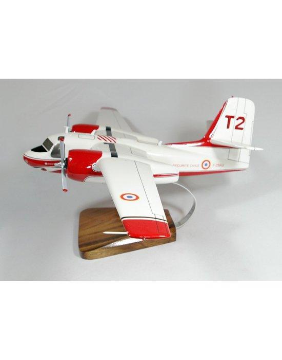 Maquette Tracker S-2F Sécutité Civile en bois