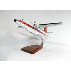 Maquette avion Fokker 27 Securite Civile en bois
