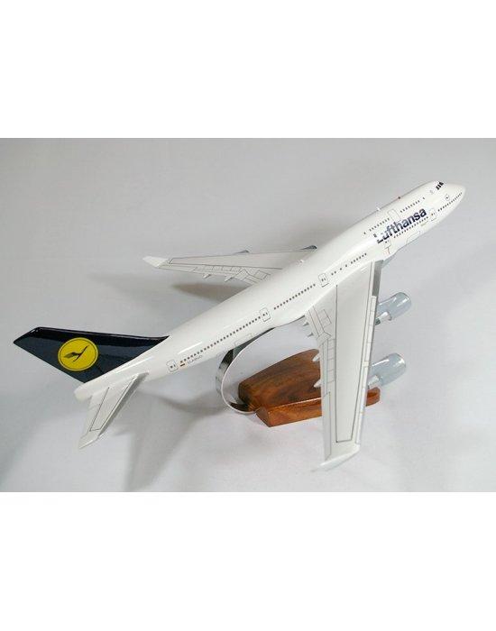 Maquette avion Boeing 747- 400 Lufthansa en bois