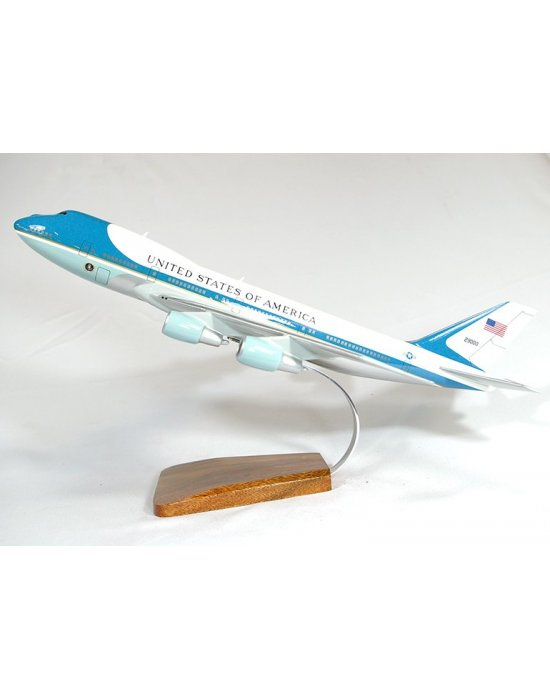 Maquette avion Boeing 747-200b/VC-25A Air Force One en bois