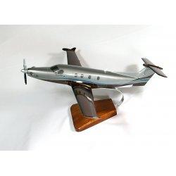 Maquette avion Pilatus PC-12 en bois