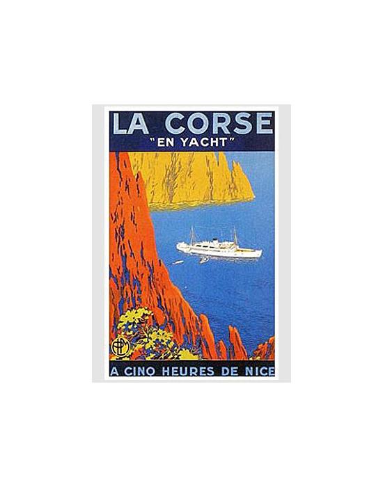 Affiche Corse En Yacht