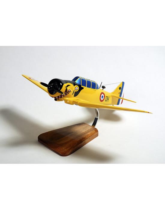 Maquette avion T-6G Texan North American en bois F.A.F