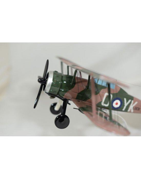 Maquette avion Gloster Gladiator MK II en bois