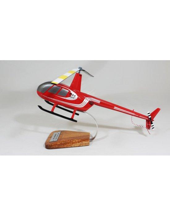 Maquette en bois du Robinson R44