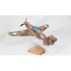 """Maquette avion P 40C Warhawk """"hell's angels"""" en bois"""
