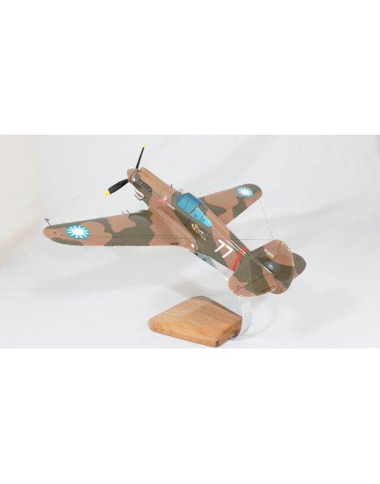 Maquette avion P 40C Hawk AVG en bois