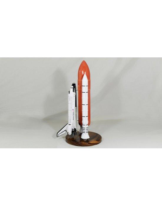 Maquette en bois de la navette Enterprise OV101 Space Shuttle & Booster