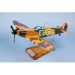 Maquette avion Spitfire MK 1A 41Squ RAF Eric Stanley Lock en bois