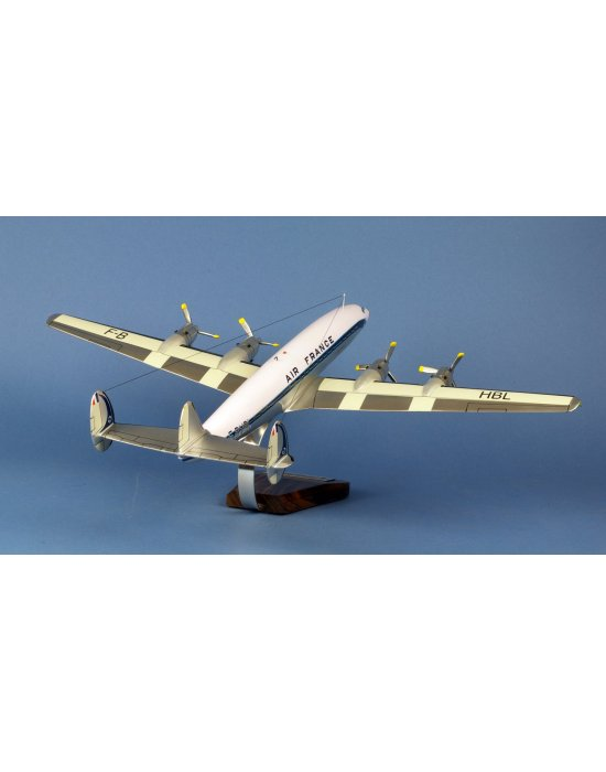 Maquette avion Lockheed L-1649A Super Starliner Air France F-BHBL en bois