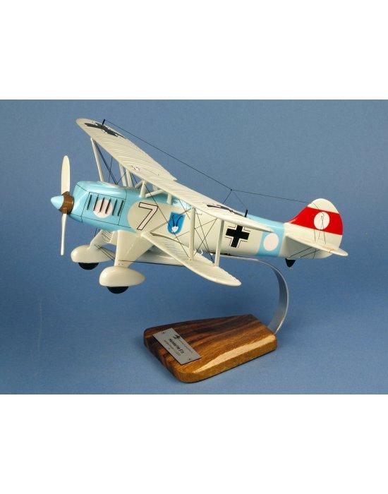 Maquette avion Heinkel He.51B en bois