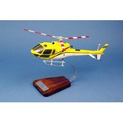 Maquette hélicoptère AS350 Ecureuil en bois