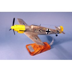 Maquette avion Messerschmitt Bf-109E-E JG26 Adolf Galland en bois