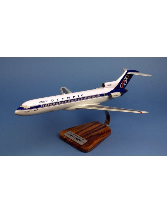 Maquette avion Olympic Airways Boeing 727-230 SX-CBH en bois