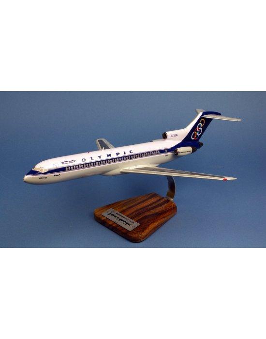 Maquette avion Olympic Airways Boeing 727-230 SX-CBH en bois