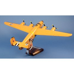 "Maquette avion B-24D Liberator ""Strawberry Bitch"" 512BS/376BG Ploesti Raid en bois"