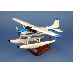 Maquette avion Cessna 185 Skywagon Floatplane en bois