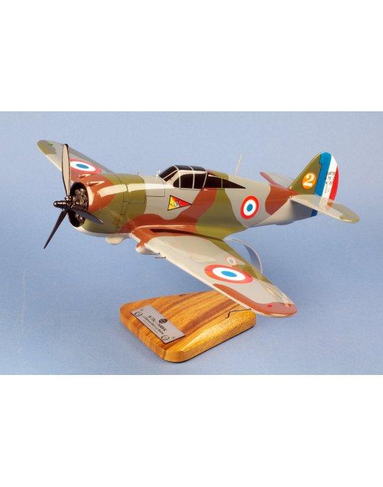 Maquette avion Hawk 75 (P-36) GC I/5 Marin La Meslée 1939 en bois