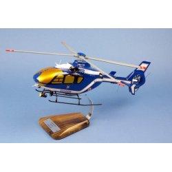 Maquette hélicoptère EC135 Gendarmerie Nationale JDD en bois