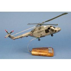 Maquette hélicoptère Lynx WG13 aéronavale en bois