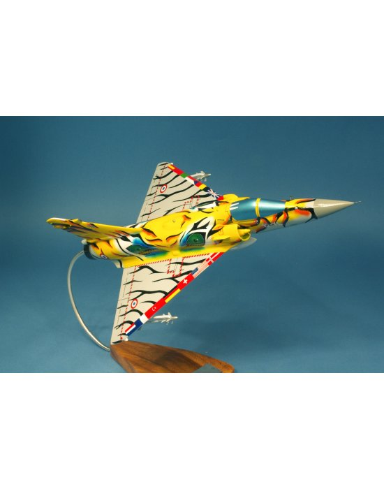Maquette avion Mirage 2000C EC 1/12 Cambrésis NATO Tiger Meet 2003 en bois