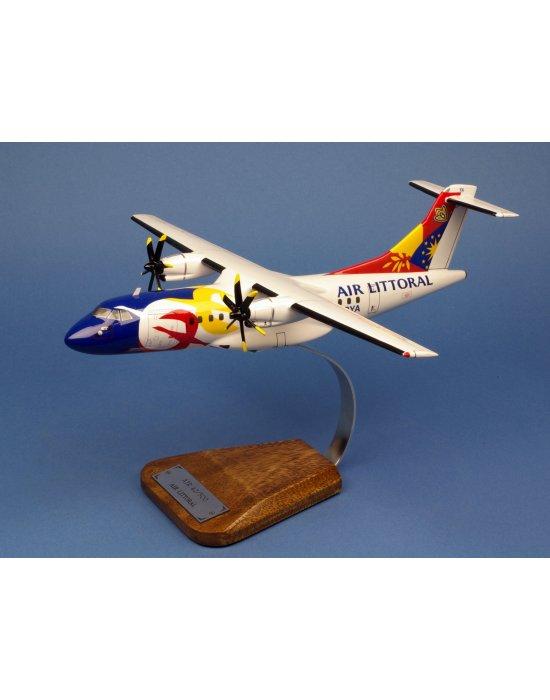 Maquette avion ATR42-500 Air Littoral F-GPYA en bois