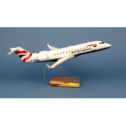 Maquette avion Canadair CRJ-200 British Airways G-MSKT en bois