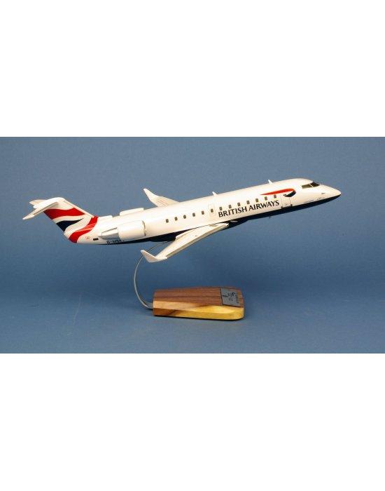 Maquette avion Canadair CRJ-200 British Airways G-MSKT en bois