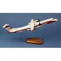 Maquette avion Dash 8-Q400MR Fireguard Milan 73 Sécurité Civile en bois