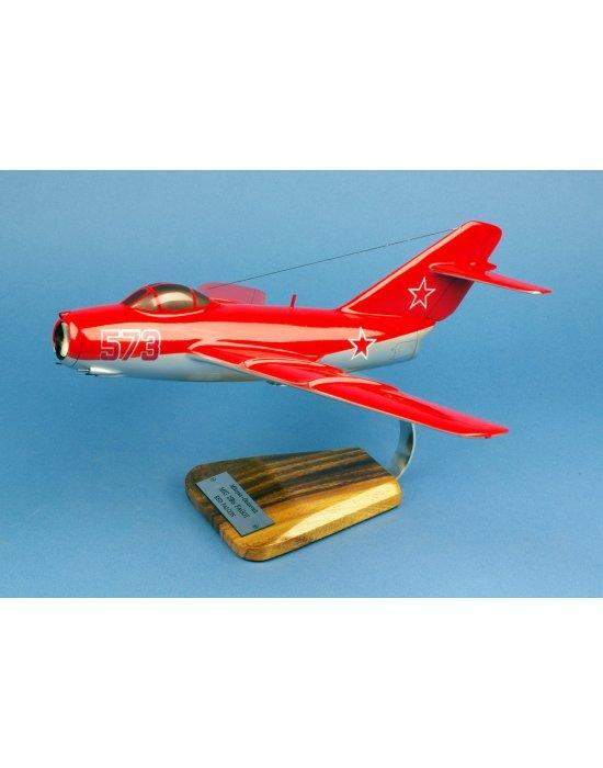 """Maquette avion Mig 15 bis Fagot """"Red Falcons"""" Moskovsky Okrug PVO en bois"""