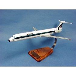 Maquette avion McDonnell Douglas MD-82 Alitalia I-DAWA en bois