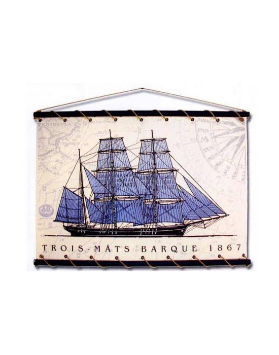 Trois-Mats Barque bleu