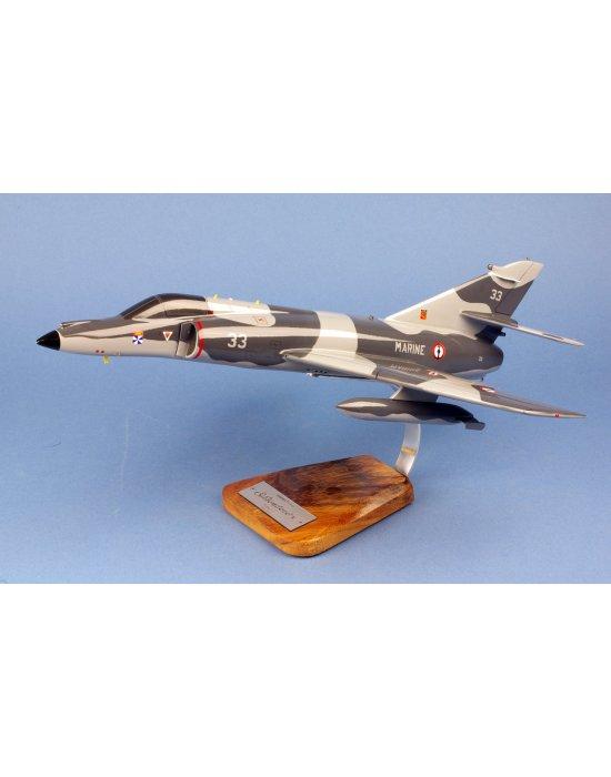 Maquette avion Super Etandard-M en bois