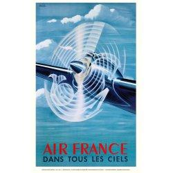 Affiche Air France // Air France Dans tous les ciels