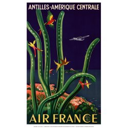 Affiche Air FRANCE//Amérique Centrale