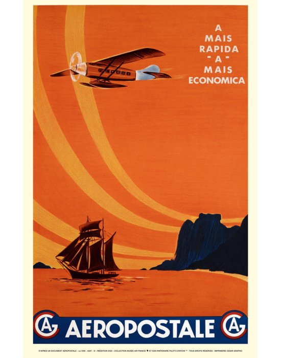 Affiche Air France//Aeropostale