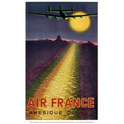 Affiche Air France Amérique du Sud