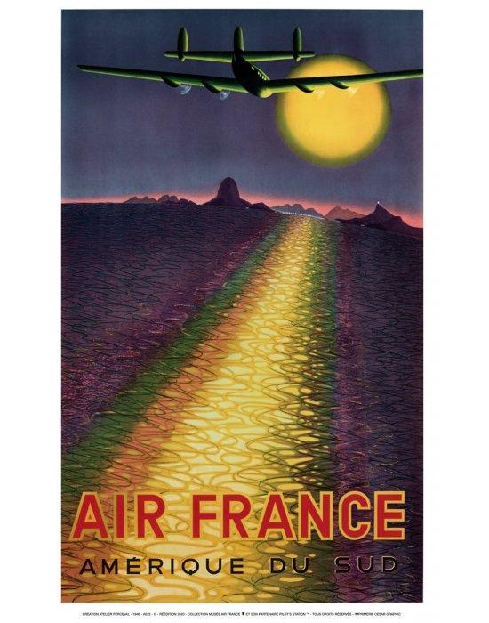 Affiche Air France Amérique du Sud