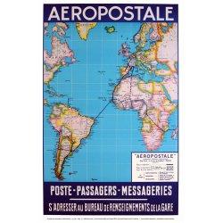Affiche Air France - Aeropostal