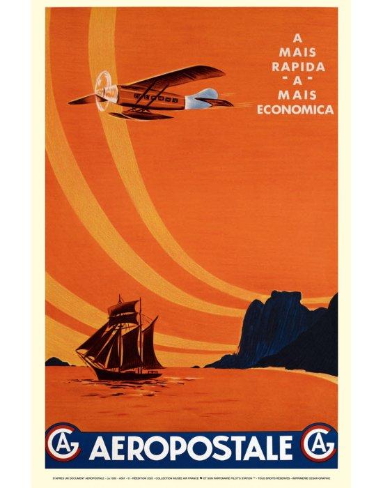 Affiche Air France / aeropostale