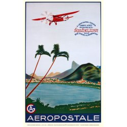 Affiche Air France - Aeropostale Amérique du Sud