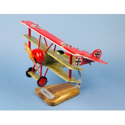 Maquette avion Fokker DR-1 'Manfred von Richthofen' en bois
