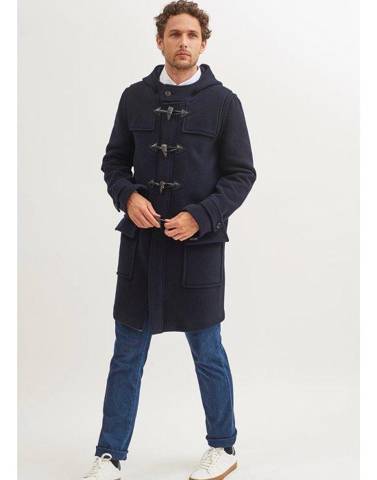Duffle-coat en drap de laine zippé