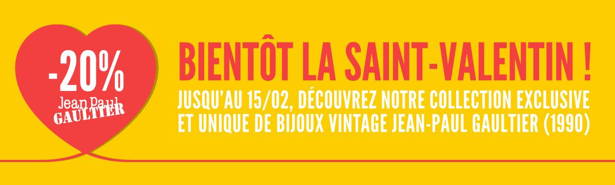Bientôt la saint-valentin ! Jusqu'au 15/02, découvrez notre collection exclusiveet unique de bijoux vintage jean-paul gaultier (1990)